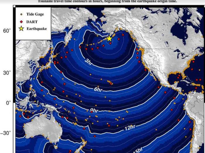 भूकंप के बाद सुनामी की चेतावनी