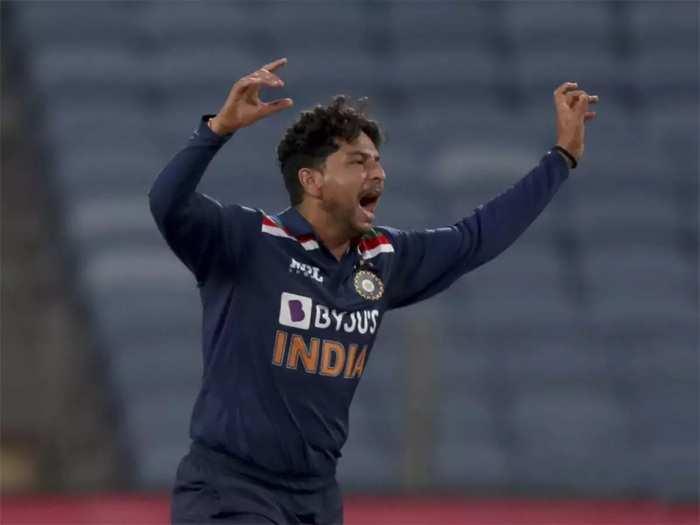 Kuldeep Yadav in T20I vs SL