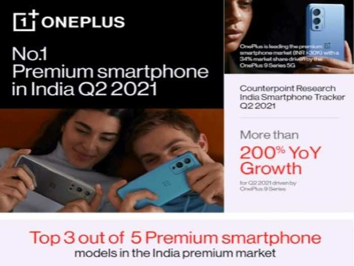 OnePlus tops in premium and 5G smartphone market Q2 2021