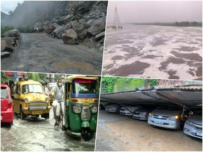 weather today latest news yamuna flow over danger mark in delhi rain in ncr rajasthan madhyapradesh west bengal rain