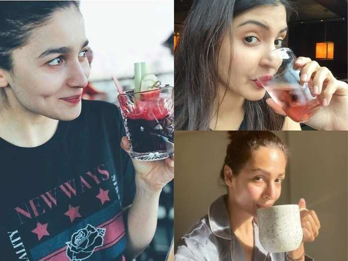 bollywood actress alia bhatt to malaika arora anushka sharma drinks this healthy drinks