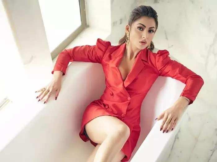 actress urvashi rautela trolled for bold designer black dress see her hot look