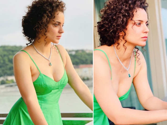 Kangana Ranaut shares beautiful pictures in green outfit