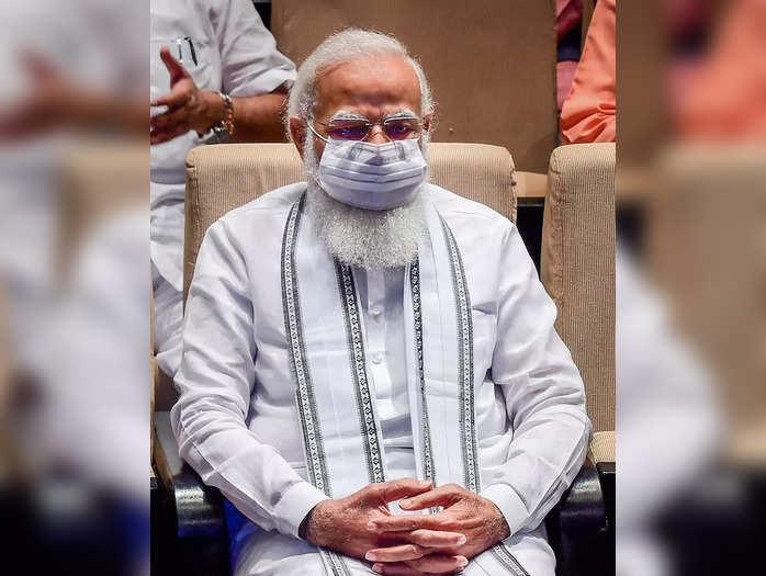 New Delhi: Prime Minister Narendra Modi at the BJP parliamentary party meeting, ...