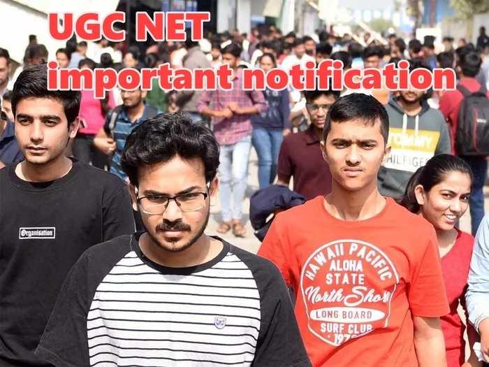 UGC NET important notification