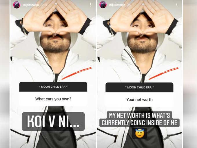 Diljit Dosanjh Instagram Story