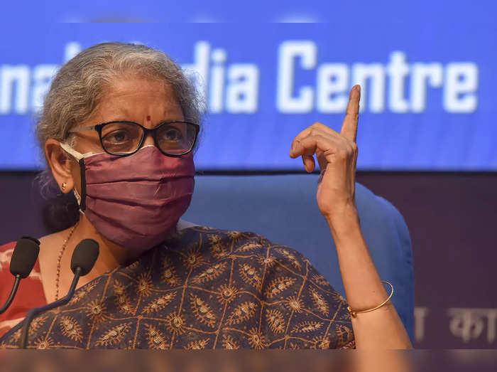 New Delhi: Finance Minister Nirmala Sitharaman addresses media after GST council...