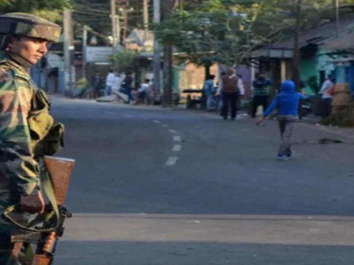 असम-मिजोरम सीमा पर सुरक्षाबल तैनात