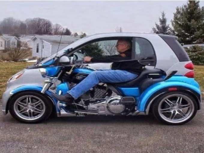 कार और बाइक एक में!
