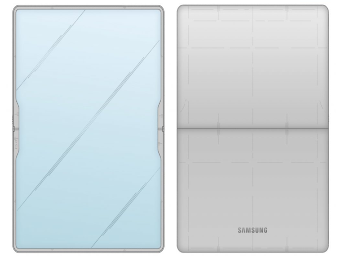 Samsung tablet with a flexible display cover