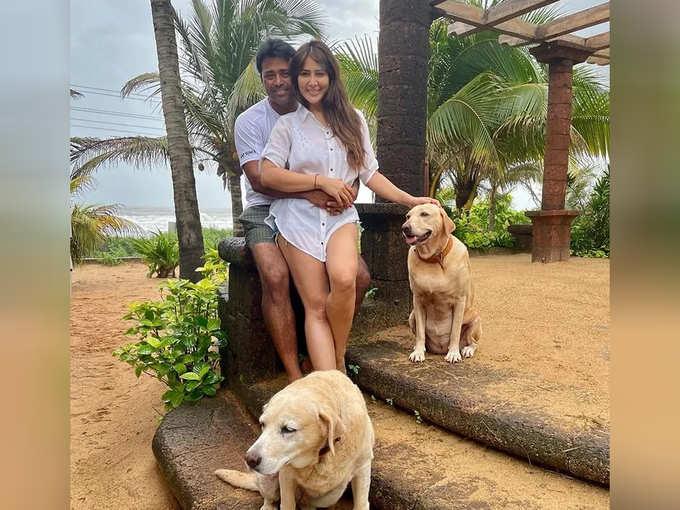 Leander Paes And Kim Sharma