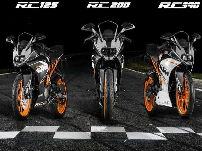KTM RC 125 KTM RC 200 And KTM RC 390 Launch India