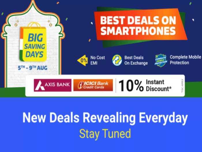 Flipkart Big Saving Days Sale Mobile Deals