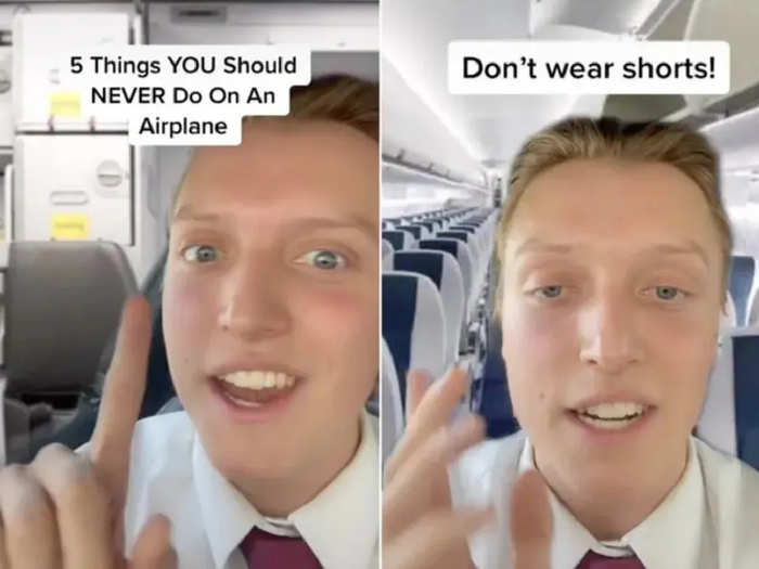 flight attendant reveals why shorts should be avoided