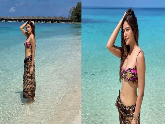 naagin 5 actress surbhi chandna hot and bold bikini photoshoot from maldives vacation