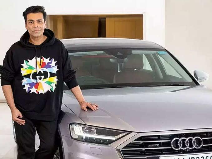 karan johar with new car