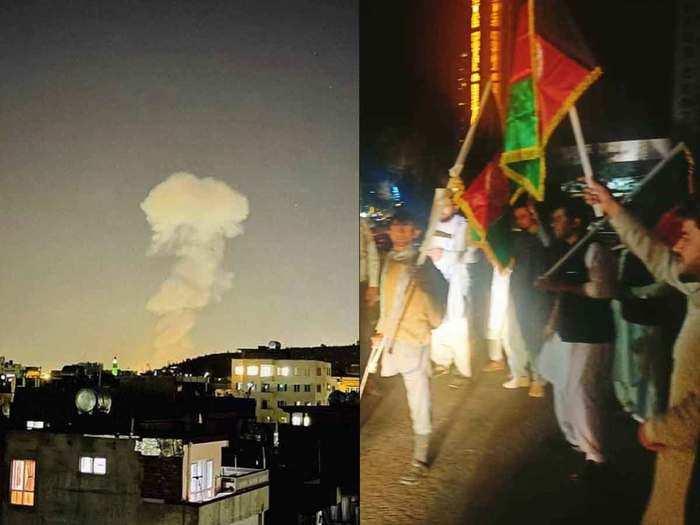 Powerful explosion gunfire hit Kabul