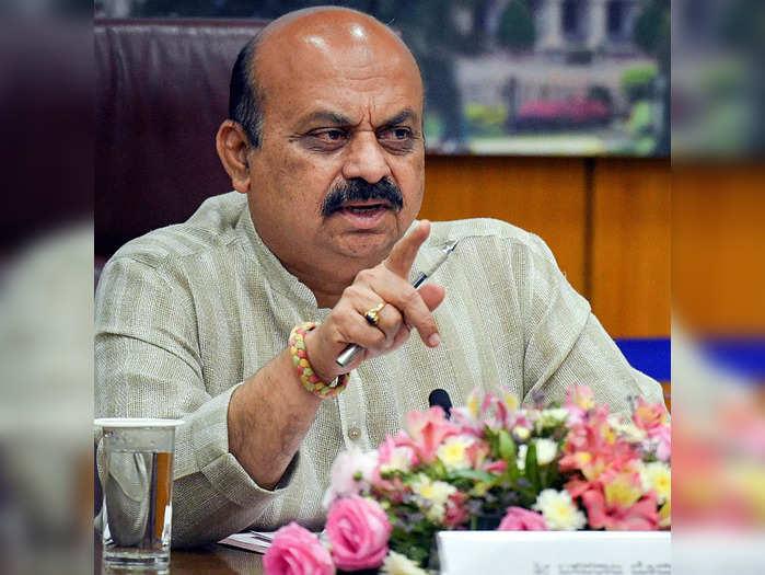 Bengaluru: Karnataka Chief Minister Basavaraj Bommai in a video conferrence with...