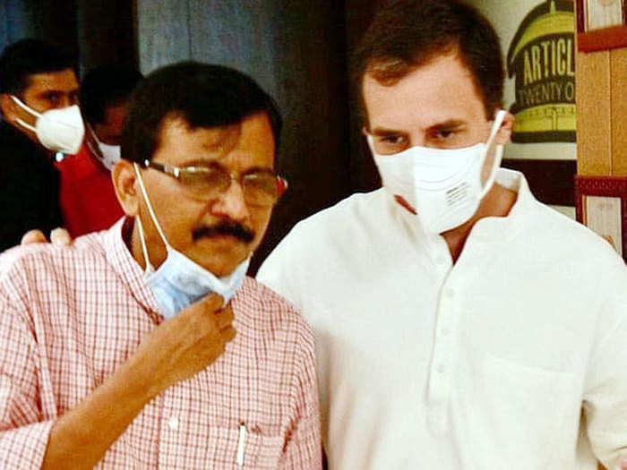 sanjay raut and rahul gandhi