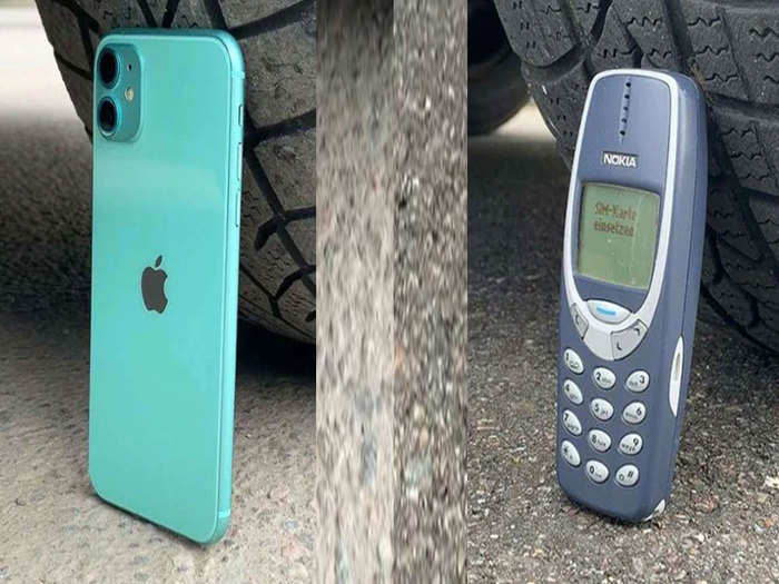 iphone 11 and nokia 3310