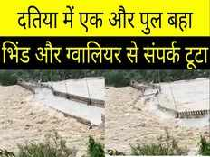 second bridge collapses in two days in datia gets disconnected from bhind and gwalior