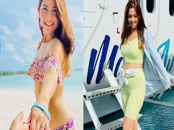 marathi actress sonalee kulkarni hot and glamorous bikini photos viral on social media enjoying vacation at maldives with husband
