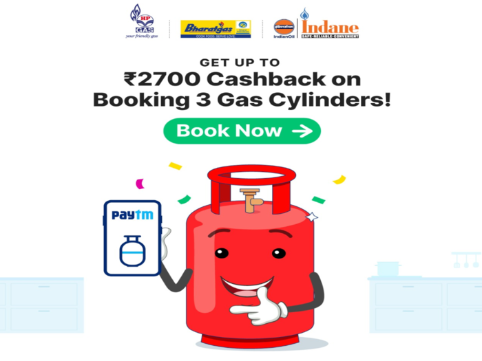 Paytm offers up to Rs 2700 cashback on LPG cylinder booking