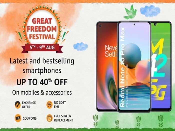 amazon great freedom festival starts today offering discounts on redmi one plus phones see details