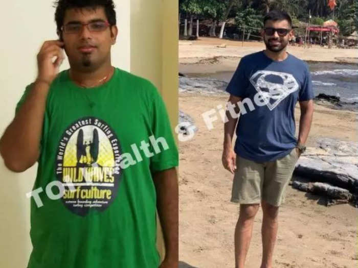 weight loss transformation this boy lost 34 kgs in 8 months by quiting rice sugar and maida