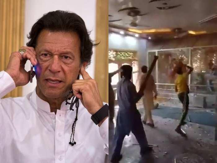 Imran Khan Mandir Attack 01