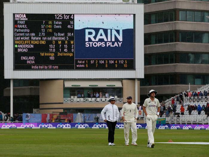 IND vs ENG 1st Test Day 2 Highlights: बारिश की वजह से जल्दी खत्म हुआ दूसरे दिन का खेल, भारत ने बनाए 125/4