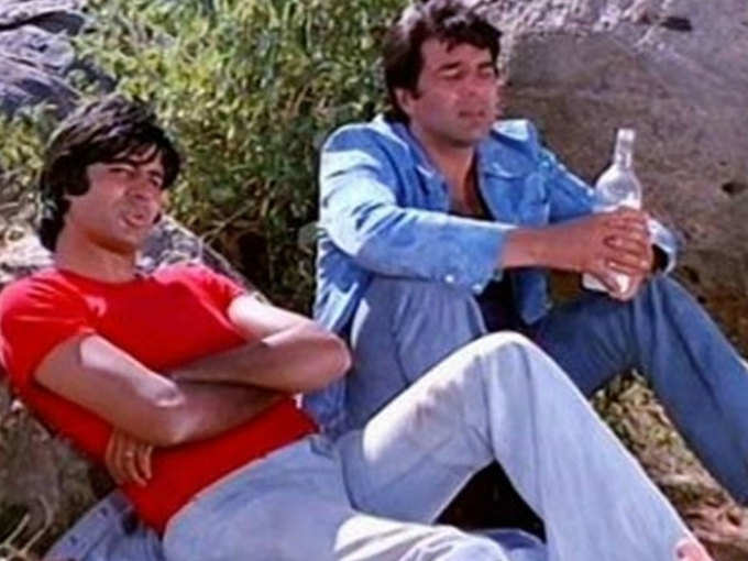 Amitabh-Dharmendra (A scene from the film Sholay)