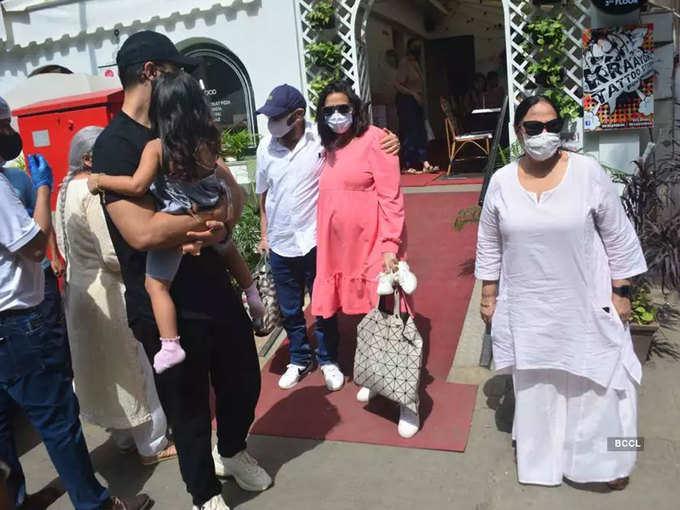 Neha Dhupia with family