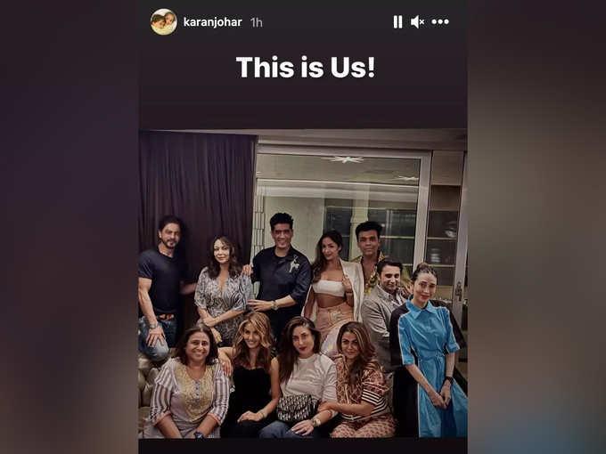 Karan Johar Instagram Story
