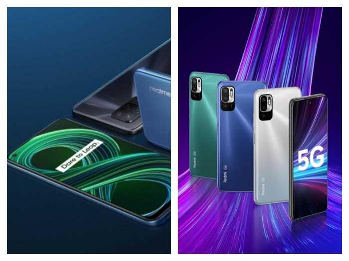 Realme 8 5G Redmi Note 10T 5G Mobile