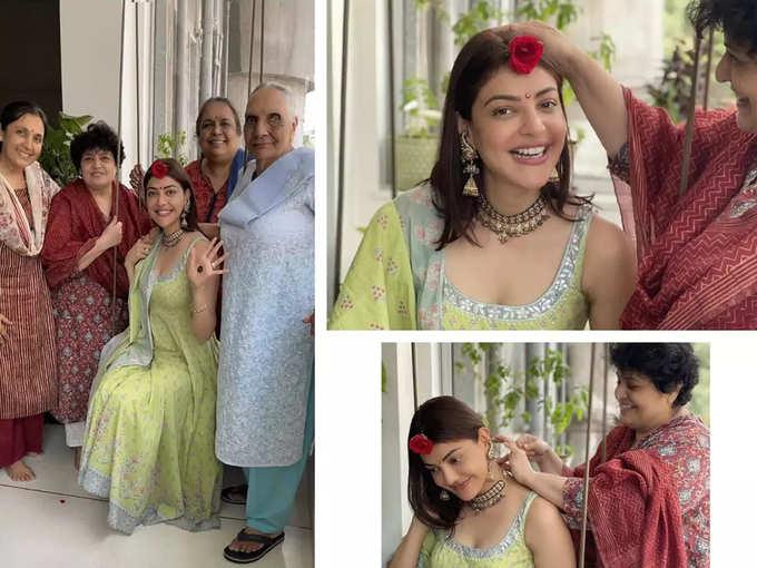 Kajal Aggarwal With Family