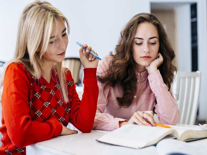 young-women-studying-together