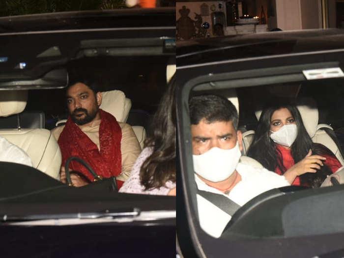 Anil Kapoor Sonam Kapoor Anand Ahuja Harshvardhan Kapoor Attend Rhea Kapoor Wedding Function