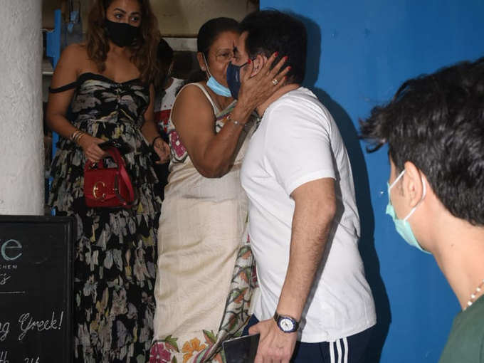 Arbaaz with Malaika's mother