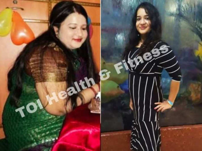 weight loss journey this woman lost 49 kg weight even after eating chicken biryani and paneer paratha