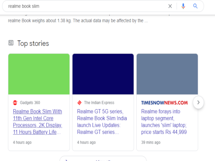Google Search is showing blank or broken images on its Top Stories