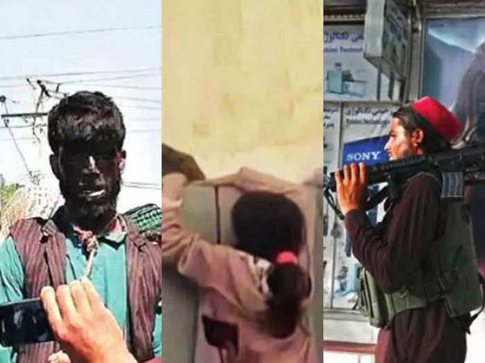 taliban atrocities in kabul people are beaten indiscriminate firing on the streets womens posters were sooted