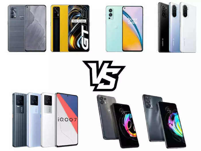 comparison of other smartphones with newly launched realme gt series read details