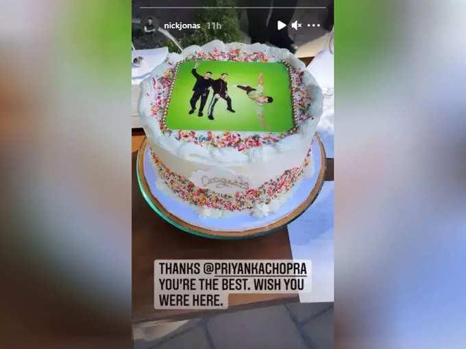 Nick Jonas's Instagram Story