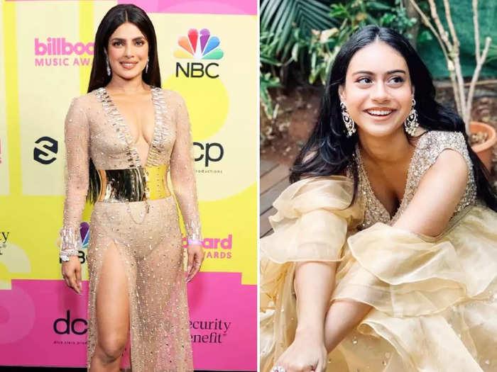 priyanka chopra jonas vs nysa devgan who looks more stylish in white dress for celebrate raksha bandhan 2021