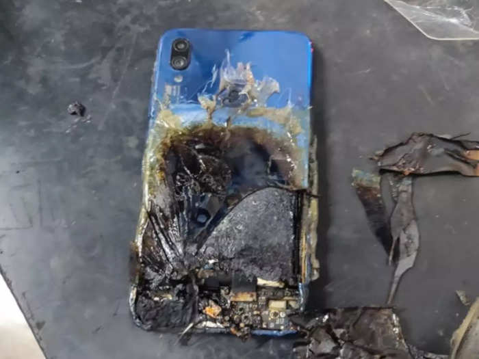 smartphones may catch fire