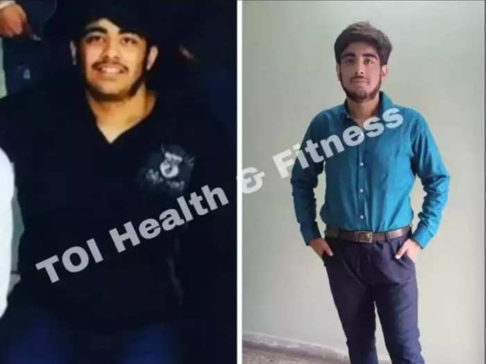 weight loss journey this 128 kg boy reduced 40 kg weight without gym and diet