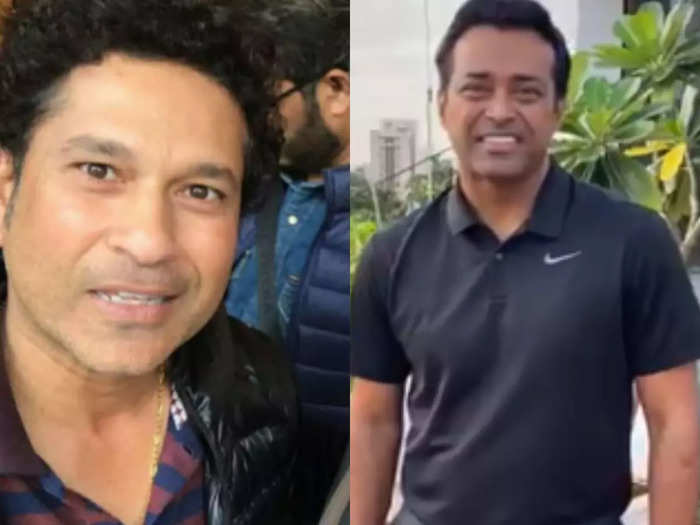 watch video sachin tendulkar, leander paes pays tribute occassion of national sports day on dhyan chand birthday