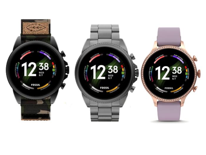 Fossil Gen 6 smartwatch 2021 lineup