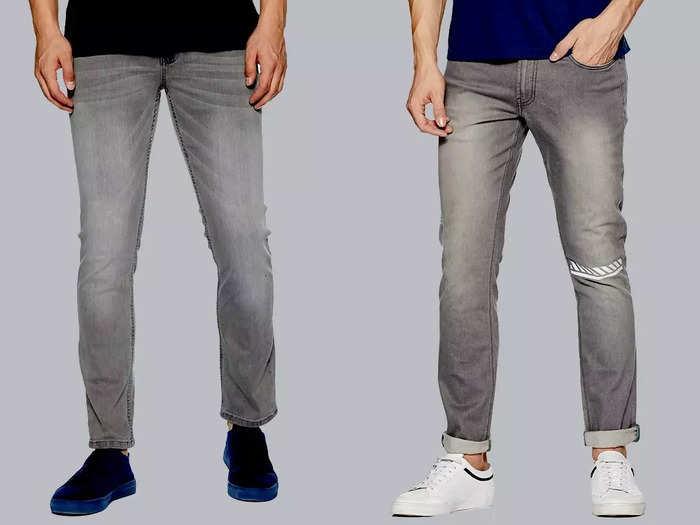 अच्छी फिटिंग और स्टाइलिश लुक के लिए खरीदें ये ग्रे कलर वाली Mens Jeans